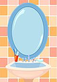Bathroom mirror Clip Art Illustrations. 278 bathroom ...