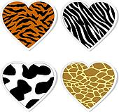 Clip Art of Heart camouflage.Vector k8368648 - Search Clipart ...