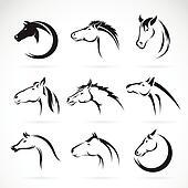 Clip art stilizzato disegno di uno cavallo testa for Disegno cavallo stilizzato