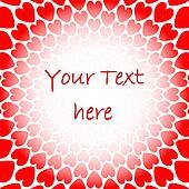 ... , coeur rouge, spirale, mouvement, toile fond., saint-valentin, carte