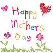 Clip Art of Mother's Day k9459829 - Search Clipart ...