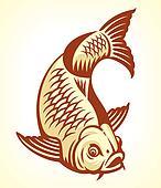 Clipart carpe fish dessin anim k9514193 recherchez for Carpe chinoise prix