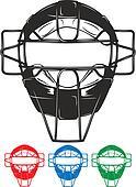 Baseball Umpire Mask Clipart