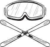 Skiing Clipart and Illustration. 3,112 skiing clip art ...