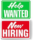 Stock Illustration of help wanted sign k1458026 - Search Clip Art ...
