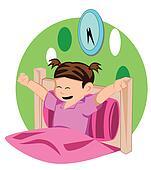 awakening clip art eps images 189 awakening clipart Cartoon Girl Waking Up girl waking up in the morning clipart