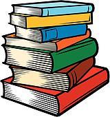 Bücherstapel clipart schwarz weiß  Clipart - buecher, stapel k5425163 - Suche Clip Art, Illustration ...