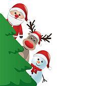 clipart weihnachten rentier und schneemann k15902832. Black Bedroom Furniture Sets. Home Design Ideas