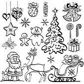 clip art wei es weihnachten kugel auf schwarz. Black Bedroom Furniture Sets. Home Design Ideas