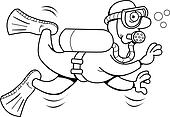 可爱潜水员