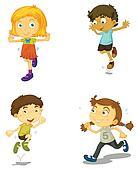 Clipart of Kids running k12532504 - Search Clip Art ...