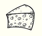 Käse clipart schwarz weiß  Clipart - käse, gekritzel k11513535 - Suche Clip Art, Illustration ...