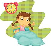 clipart of a boy waking up early k15979961 search clip little girl waking up clipart Awake Clip Art