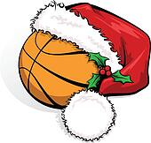 Basketball Santa Cap