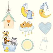 clipart of baby boy shower k8820064 search clip art illustration