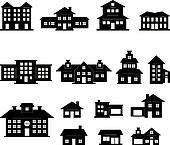 Haus schwarz weiß illustrationen und clipart