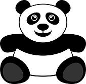 panda clip art lizenzfrei panda clipart vektor eps. Black Bedroom Furniture Sets. Home Design Ideas