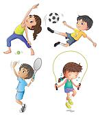 Exercise clipart and illustrations