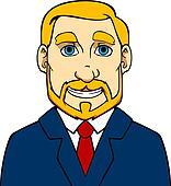 Businessman with beard Man With Beard Clipart