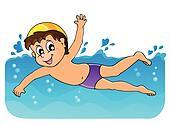 Clip Art - summer, wasser, aktivität, thema, 6 k14012868 ...