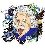Stock Illustrations of Cartoon Albert Einstein having an idea ...