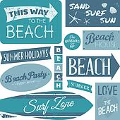 Clip Art of Vintage Beach Metal Sign k14572859 - Search ...