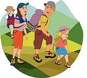 family hiking clipart - photo #4