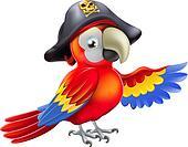 Cartoon-Piraten-Papage...
