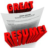 clipart of great resume 3d words successful