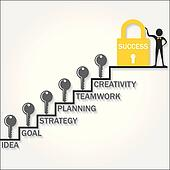 Clipart of Keys climb up success stair k15045110 - Search Clip Art ...