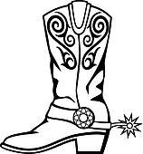 Bildergebnis für cowboystiefel clipart
