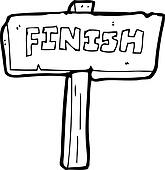Clipart of cartoon finish sign k15564981 - Search Clip Art ...