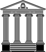 Clip Art of Five types of old column architecture old ...