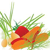 clip art of healthy fresh produce vegetables k11376007