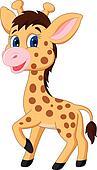 Carino giraffe bambino cartone animato - Cartone animato giraffe immagini ...