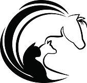 Clip art pferd katz und hund stilisiert logo for Immagini cavalli stilizzati