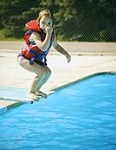 Stock photo of children jumping 1792772 search stock for Garden ranch ymca pool