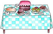Clip Art of A painting of a bake sale cgo0012 - Search Clipart ...