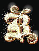 Bling alphabet B B Alphabet Wallpaper