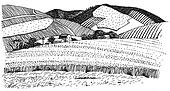 Rolling Hills Clipart Black And White