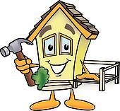 Haus bauen clipart  Haus 2 - Stock Clip Art Illustrationen. Kaufen Sie Lizenzfreie ...