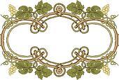 clipart feuille verte et vigne cadre u17004669 recherchez des cliparts des illustrations. Black Bedroom Furniture Sets. Home Design Ideas