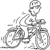 karikatur fahrrad