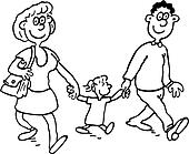 Clipart of , baby, cartoons, family, people, smile, hug ...