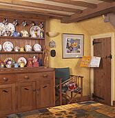 Stock foto dennenboom kleermaker en slager blok in land keuken u19731333 zoek - Keuken oud land ...