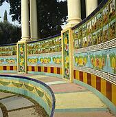 Stock foto nahaufnahme von blue white yellow spanisch - Fliesen spanischer stil ...